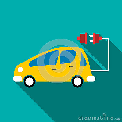 Free Electro Car Icon, Flat Style Royalty Free Stock Photography - 79269947