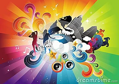 Electro explosão do arco-íris