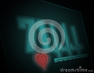 Electrocardiogram on  monitor. Illustration
