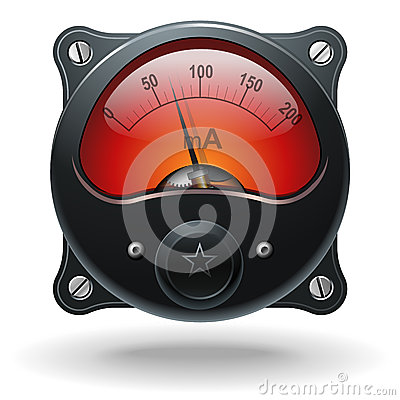 Free Electronic Analog VU Signal Meter Stock Photography - 26300242