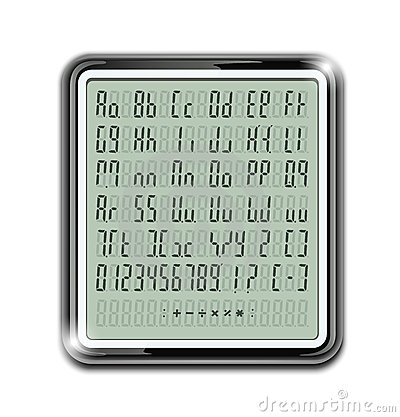 Electronic calculator font