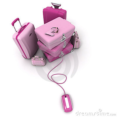 Electronic check-in in pink