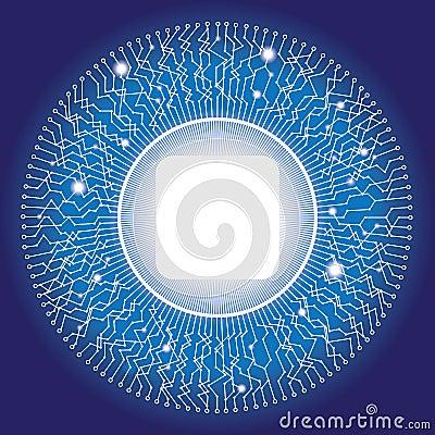 Electronic circular circuit design with copyspace