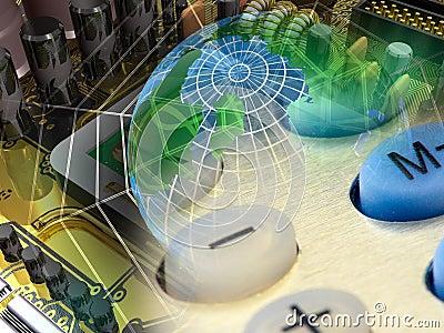 Electronic cobweb