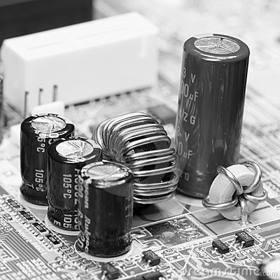 Electronic component on old mainboard