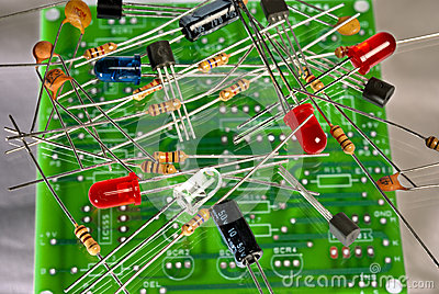 Electronic components and circuit board