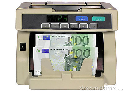 Electronic currency counter with euro