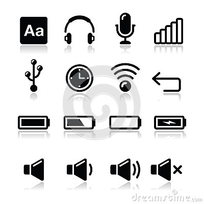 Electronic device / Computer software icons set -