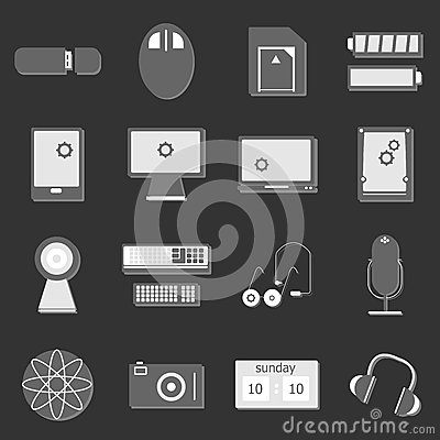 Electronic device icon on dark background