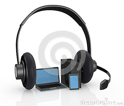 Electronic devices with headphones