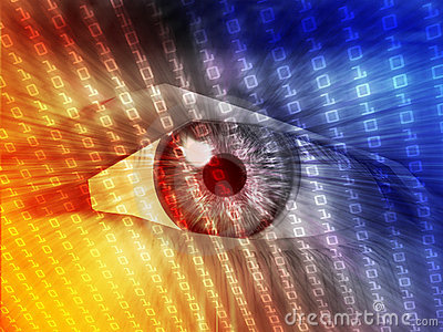Electronic eye illustration