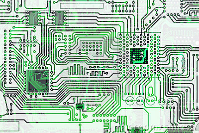 Electronic high-tech circuit board background