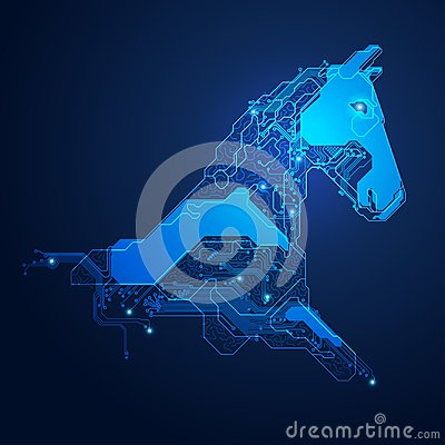 Free Electronic Horse Head Stock Images - 112452974