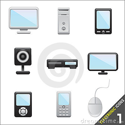 Electronic icon 1 vector