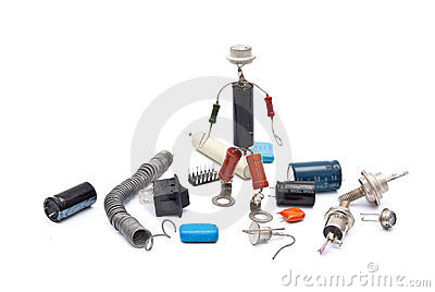 Electronic man with radio components