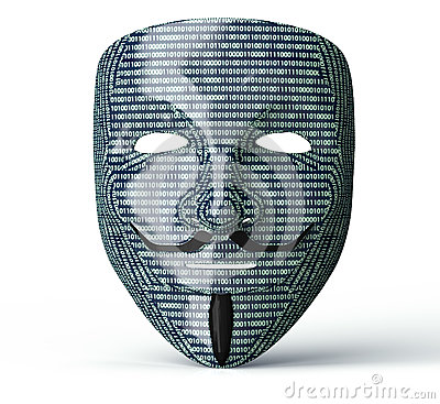 Free Electronic Mask Of A Computer Hacker Royalty Free Stock Image - 70196486