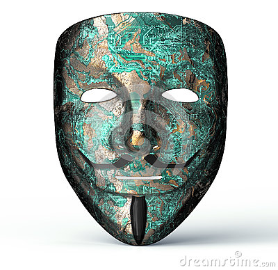 Free Electronic Mask Of A Computer Hacker Royalty Free Stock Image - 70196506