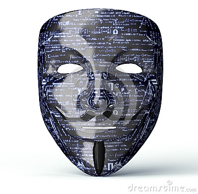 Free Electronic Mask Of A Computer Hacker Stock Photos - 70196943