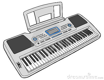 Electronic musical keyboard - synth