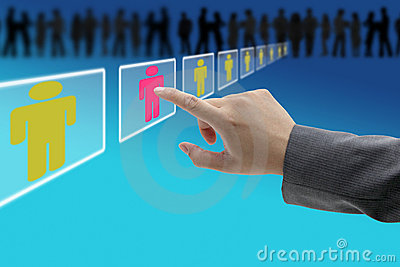 Electronic recruitment workforce