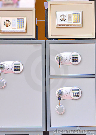 Electronic safe deposit boxes