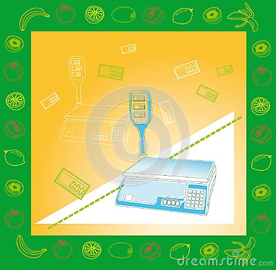 Electronic scales for products