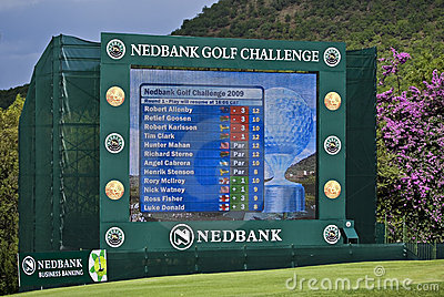 Electronic Scoreboard - NGC2009 Editorial Stock Photo