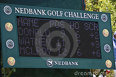 Electronic Scoreboard Editorial Stock Image