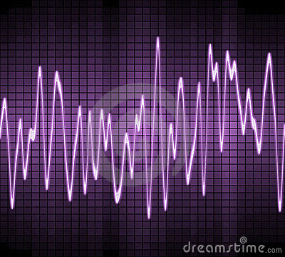 Electronic sine sound wave