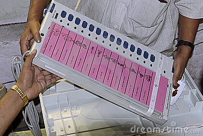 Electronic Voting Machine Editorial Image