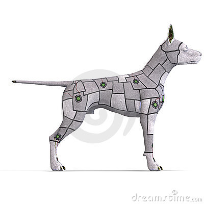 Electronical scifi dog of the future