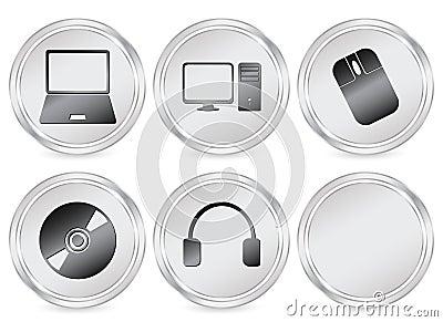 Electronics circle icon