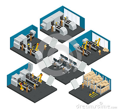 Free Electronics Factory Isometric Multistory Composition Stock Image - 97345081