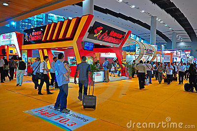 Electronics pavilion at canton fair 2011 Editorial Image