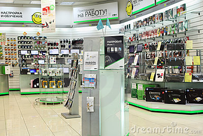 In electronics shop Editorial Image