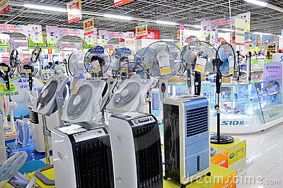 Electronics stores,fan Editorial Photo