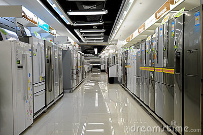 Electronics stores,refrigerator Editorial Photography