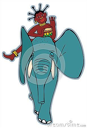 Elefant riding.