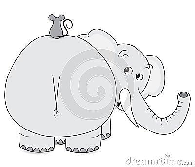 elefant und maus lizenzfreies stockfoto bild 20889995. Black Bedroom Furniture Sets. Home Design Ideas