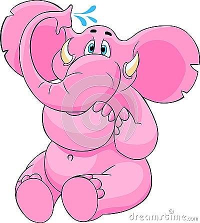 Elefante rosado grande