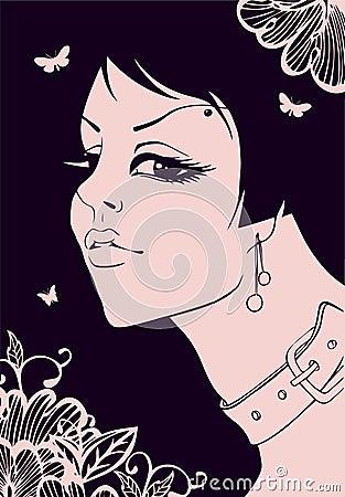 Elegance beauty girl
