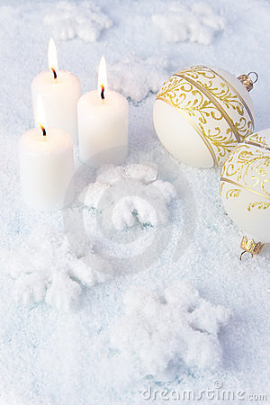 Elegance Christmas Background / Holiday Candles