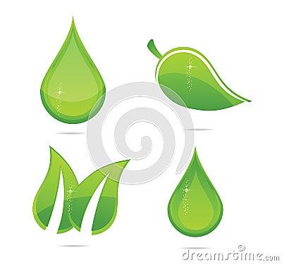 Elegance eco leafs set green color