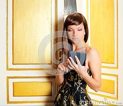 Elegance fashion woman reading ebook