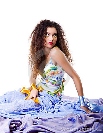 Elegance  fashion women with make-up