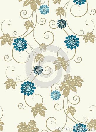 Elegance floral seamless background.