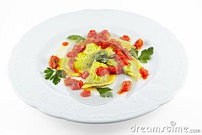 Elegance food - ravioli