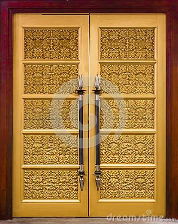 Elegance wood carving door