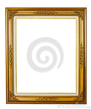 Elegance golden picture frame