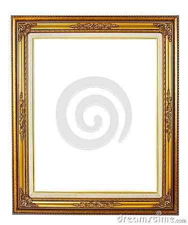 Elegance golden picture frame
